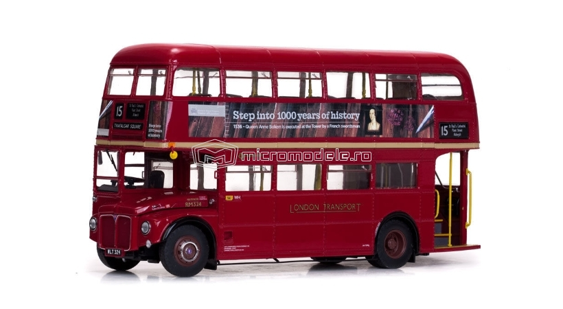 ROUTEMASTER Double Decker London Bus RM324-WLT324 (1960)
