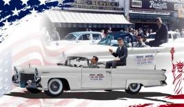 LINCOLN Continental Mark III Convertible (1958) cu figurina JFK